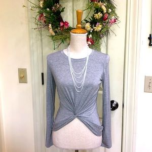 Electric Yoga Heather Gray Top